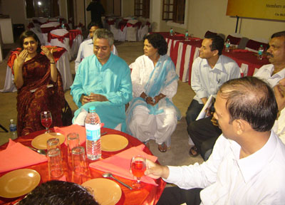 CNN-IBN Editor in Chief Rajdeep Sardesai and his wife and Senior Editor Sagarika Ghose interacted with the media, in Mangalore