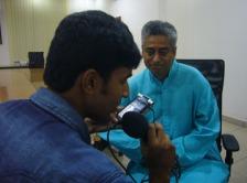 Rajdeep with Harsha