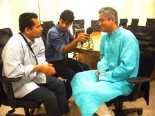 Rajdeep with RR & Harsha