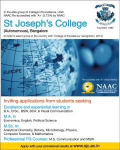 MS Communication, St Joseph's College (Autonomous), Bangalore