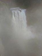 Falls through mist