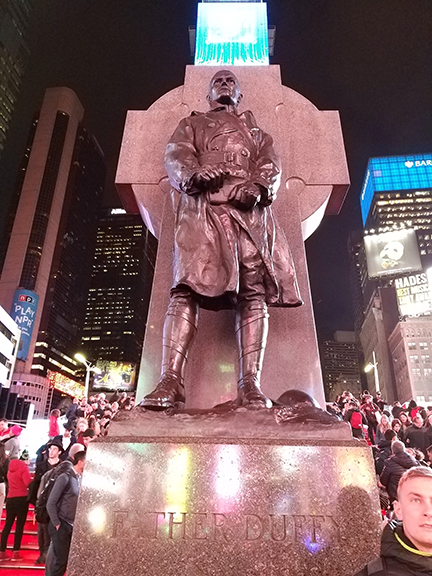 Times Square - Fr Duffy statue